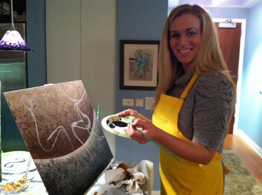 Artist Sarah O'Brien at work