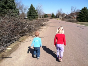 Out for a run, surveying the aftermath of damage from an ice storm