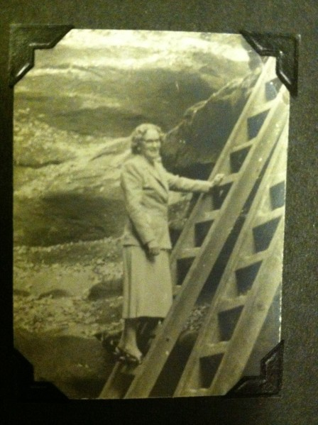 My mother, Tess Hoitenga, around 1954. I never saw my mother wearing slacks, even though she lived until the age 95.