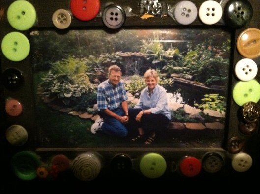 Marv's waterfall and koi pond when we lived in the suburbs.