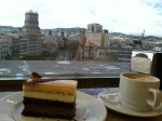 Another decadent dessert while looking over Barcelona.