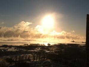 Morning Sun over Lake Michigan in Chicago