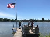 starting pontoon ride