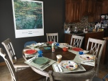 New dining set/old kitchen/old wall art