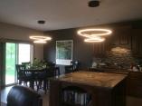 New light fixtures/old kitchen/former dining set